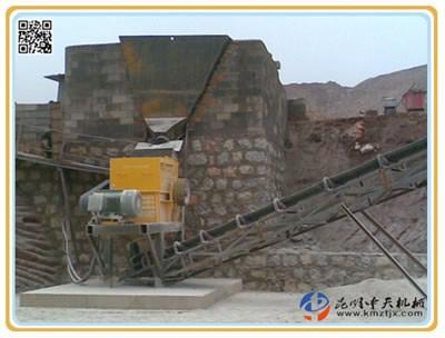 云南昆明大板桥PCF80型制砂机试生产现场