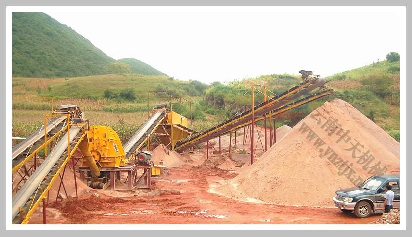 云南文山日产1500吨石英砂生产线