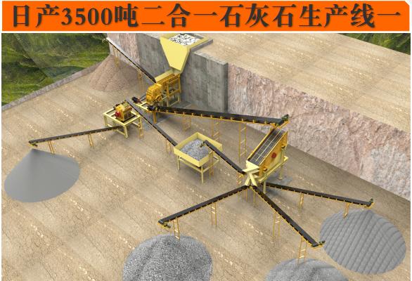 日产3500吨manbetx官网电脑版石灰石生产线